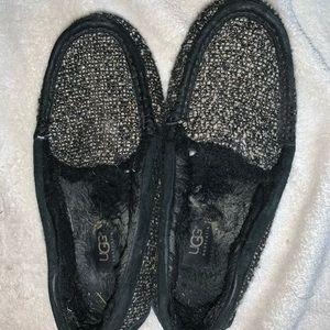 Sparkly ugg moccasins